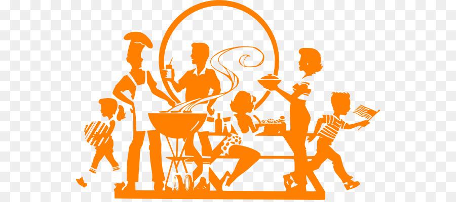 Logo text orange transparent. Barbecue clipart family barbecue