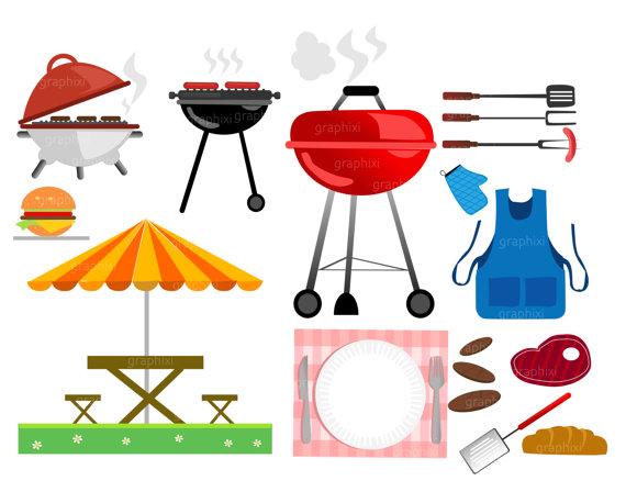 Barbecue clipart family barbecue. Bbq grill vector ilxn