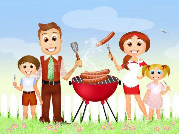 Stock photo rossella apostoli. Barbecue clipart family barbecue
