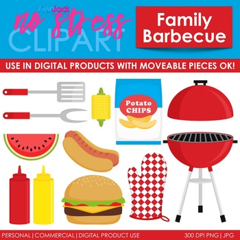 Barbecue clipart family barbecue. Clip art digital use
