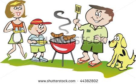 . Barbecue clipart family barbecue