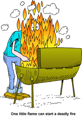 Barbecue clipart flame. Image cook out flames