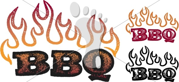 Barbecue clipart flame. Hot flaming bbq grill