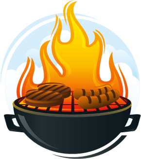 Barbecue clipart flame. Bbq transparent png stickpng