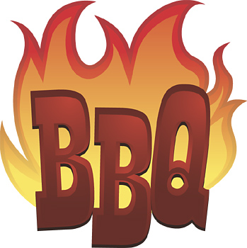 Barbecue clipart flame. Grill with flames