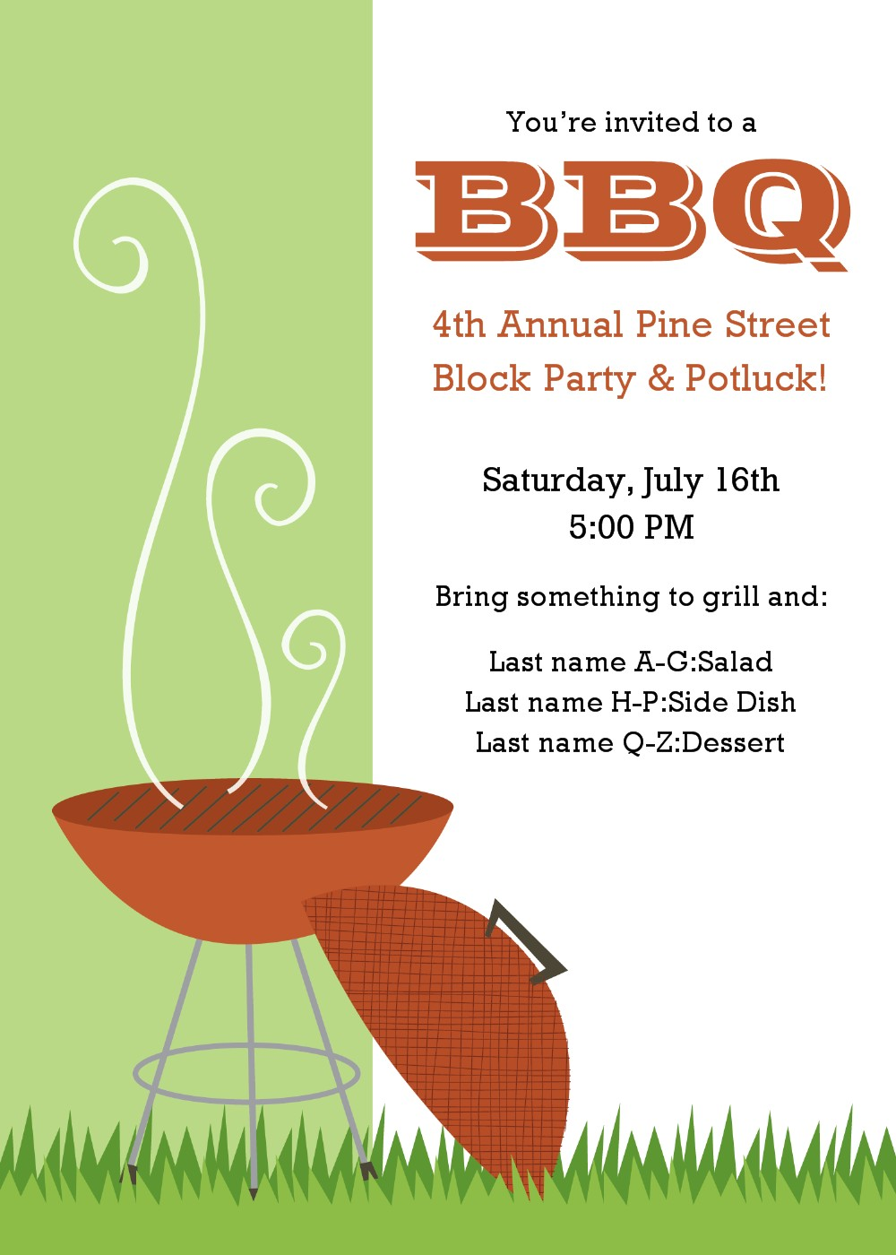 Barbecue clipart flyer. Bbq template incep imagine