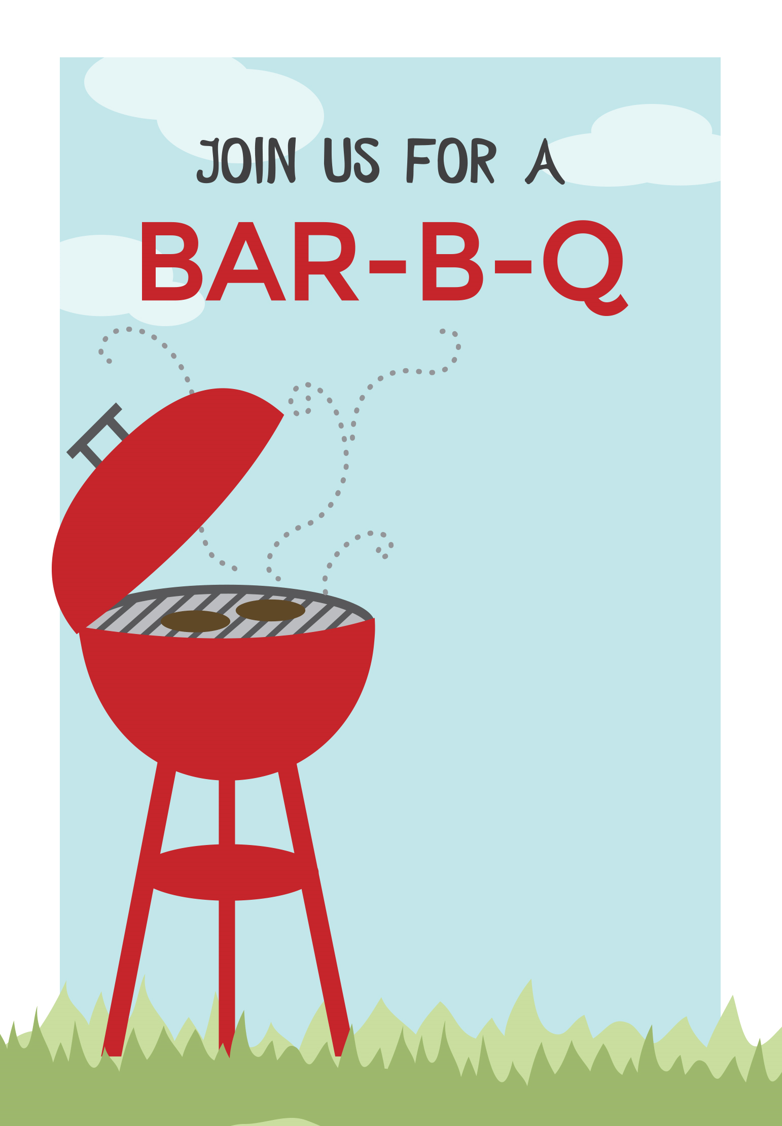 Bbq cookout free printable. Barbecue clipart flyer