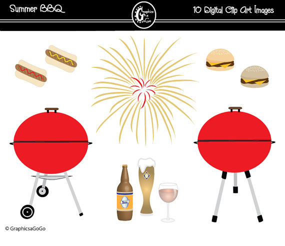 Barbecue clipart flyer. Bbq clip art party
