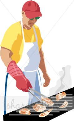 Mans fathers day backgrounds. Barbecue clipart gas grill