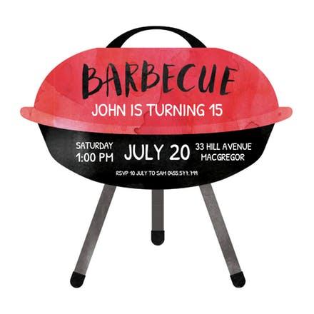 Bbq party invitation flyer. Barbecue clipart graduation