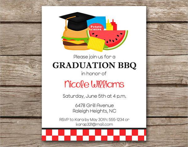 Invitation templates free premium. Barbecue clipart graduation