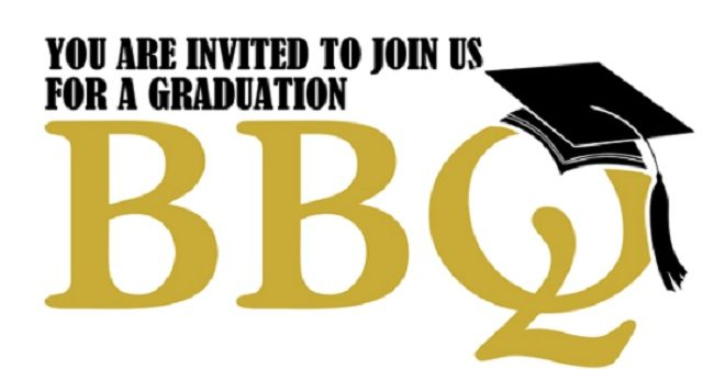 Gss party . Barbecue clipart graduation