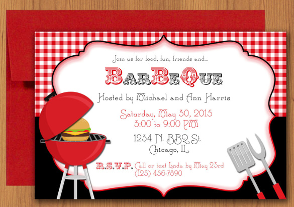 Barbeque invitations templates incep. Bbq clipart flyer