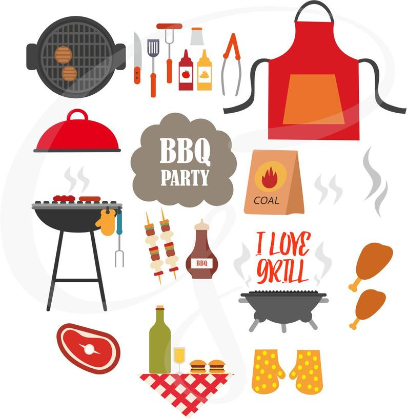 Bbq graphics outdoor barbecue. Grilling clipart celebration
