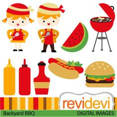 Barbecue clipart kid. Party backyard bbq clip