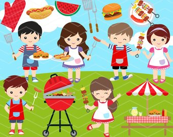 off kawaii clip. Barbecue clipart kid