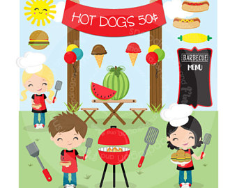 Etsy bbq summer picnic. Barbecue clipart kid