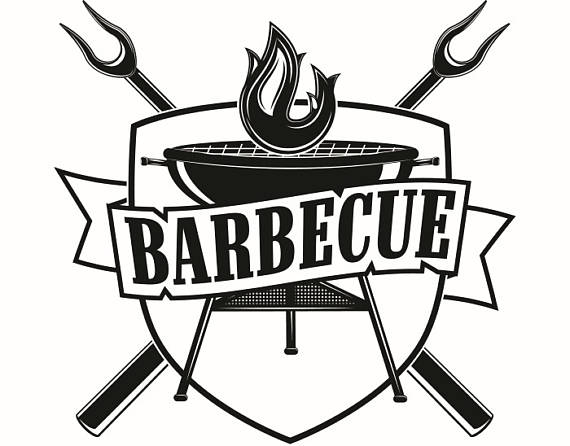 Bbq grill grilling fork. Barbecue clipart logo