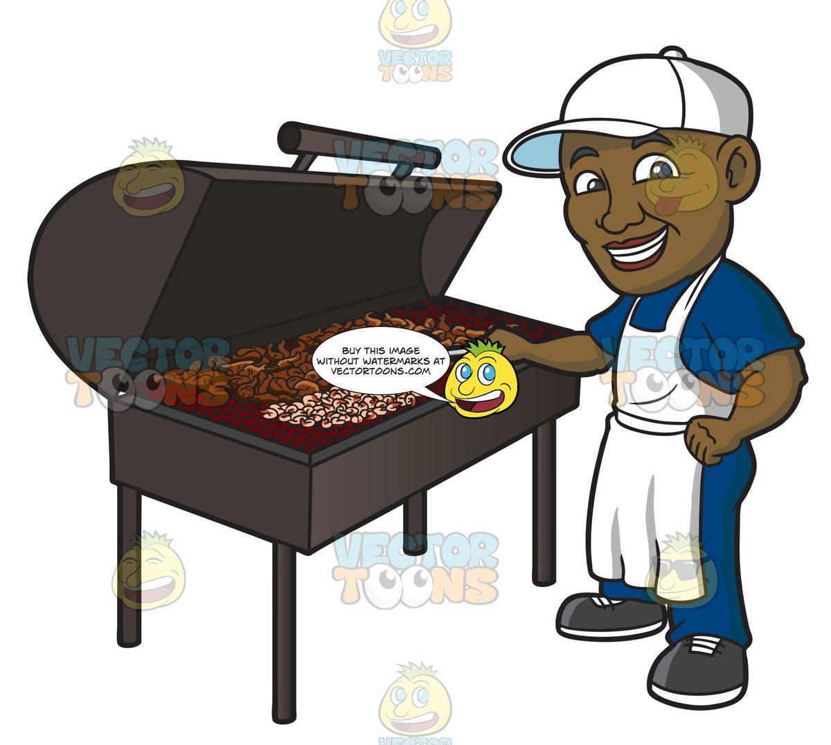 barbecue clipart man