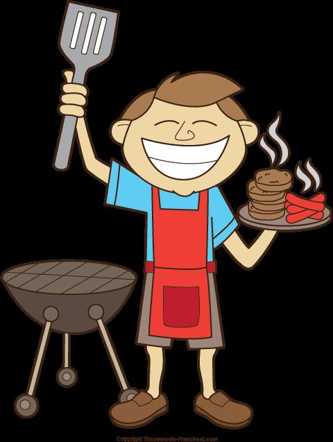Grilling clipart description. Free grill man cliparts
