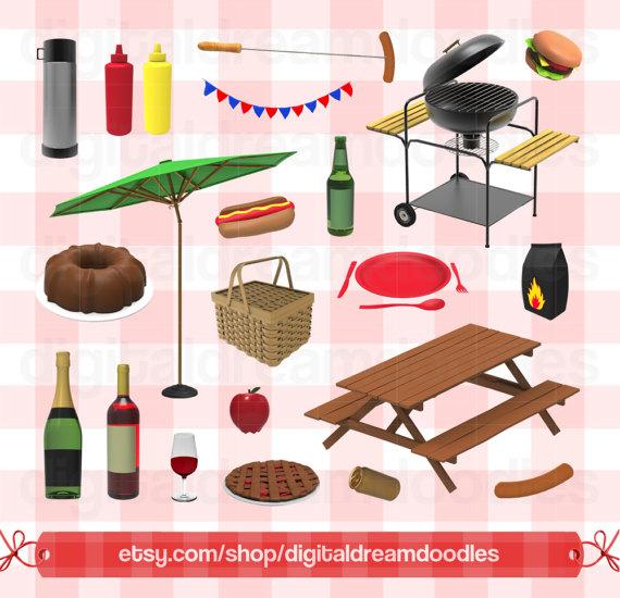 Carnival clipart carnivale. Picnic barbecue clip art