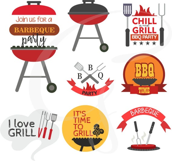 Grilling clipart invitation. Bbq graphics outdoor barbecue