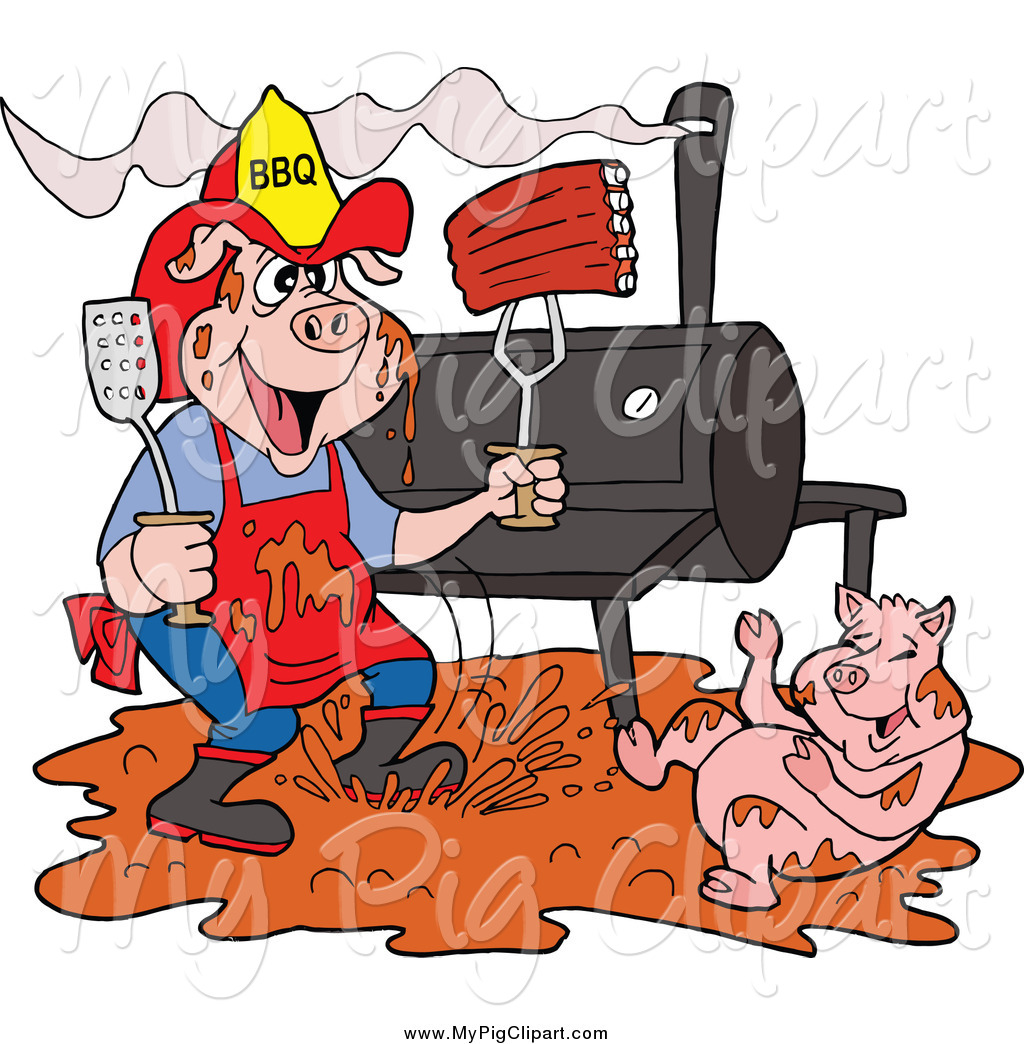Barbecue clipart pig. Swine of a bbq