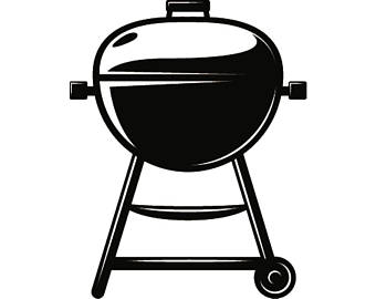 Backyard bbq etsy grill. Barbecue clipart silhouette