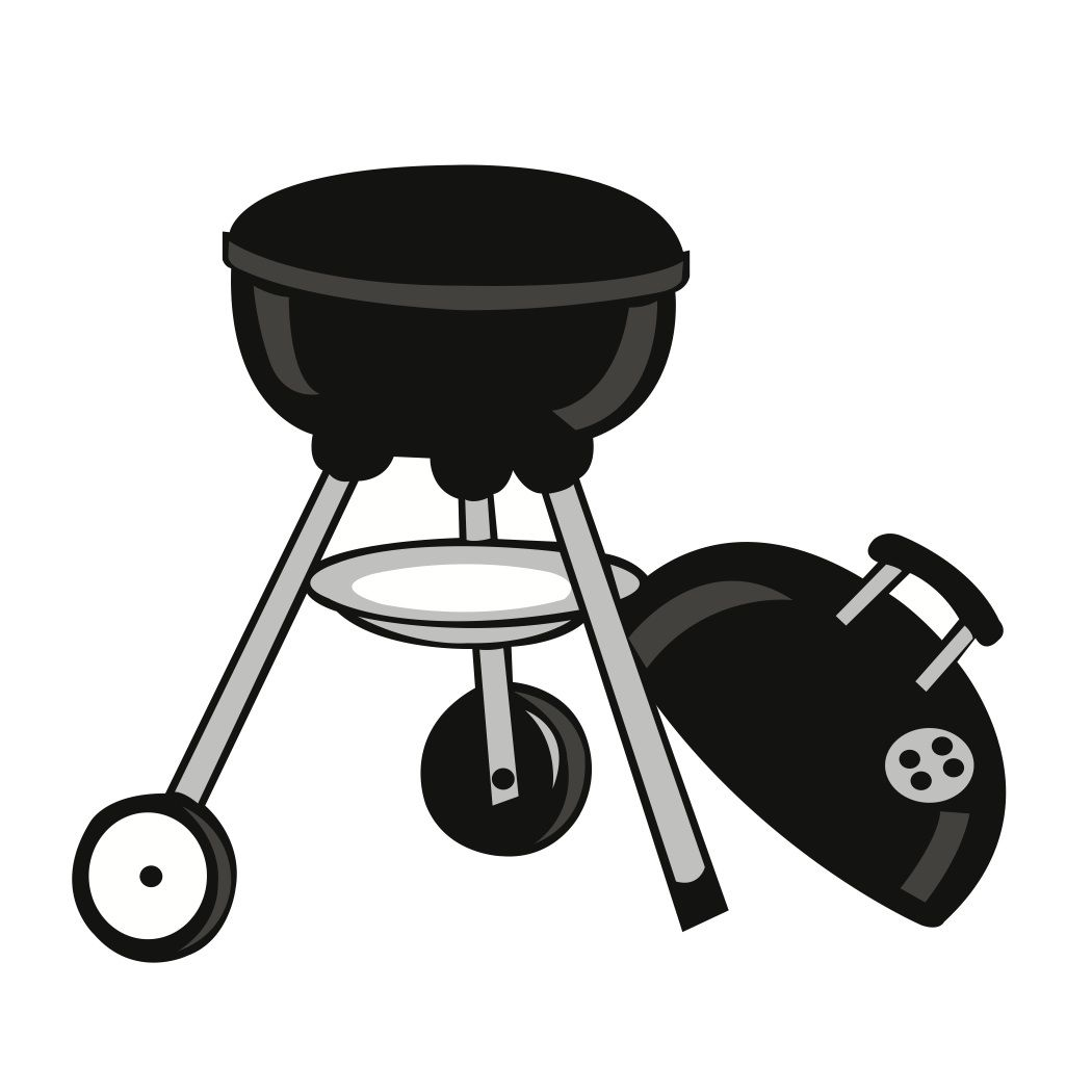 Barbecue clipart silhouette. Free svg file download