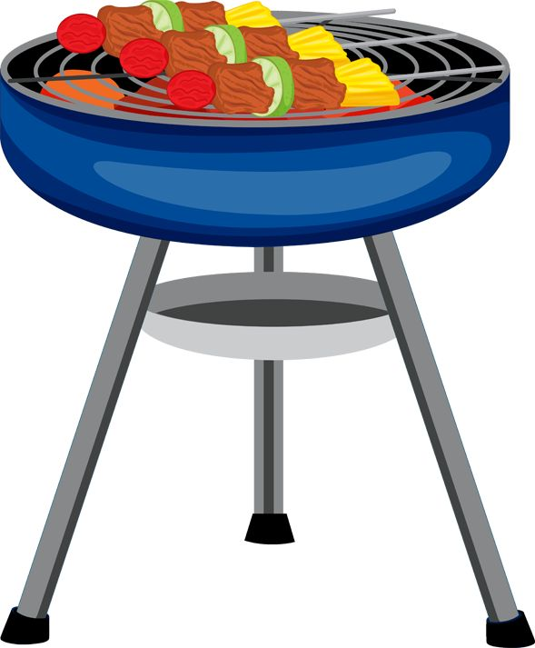 Barbecue clipart silhouette. Bbq grill at getdrawings