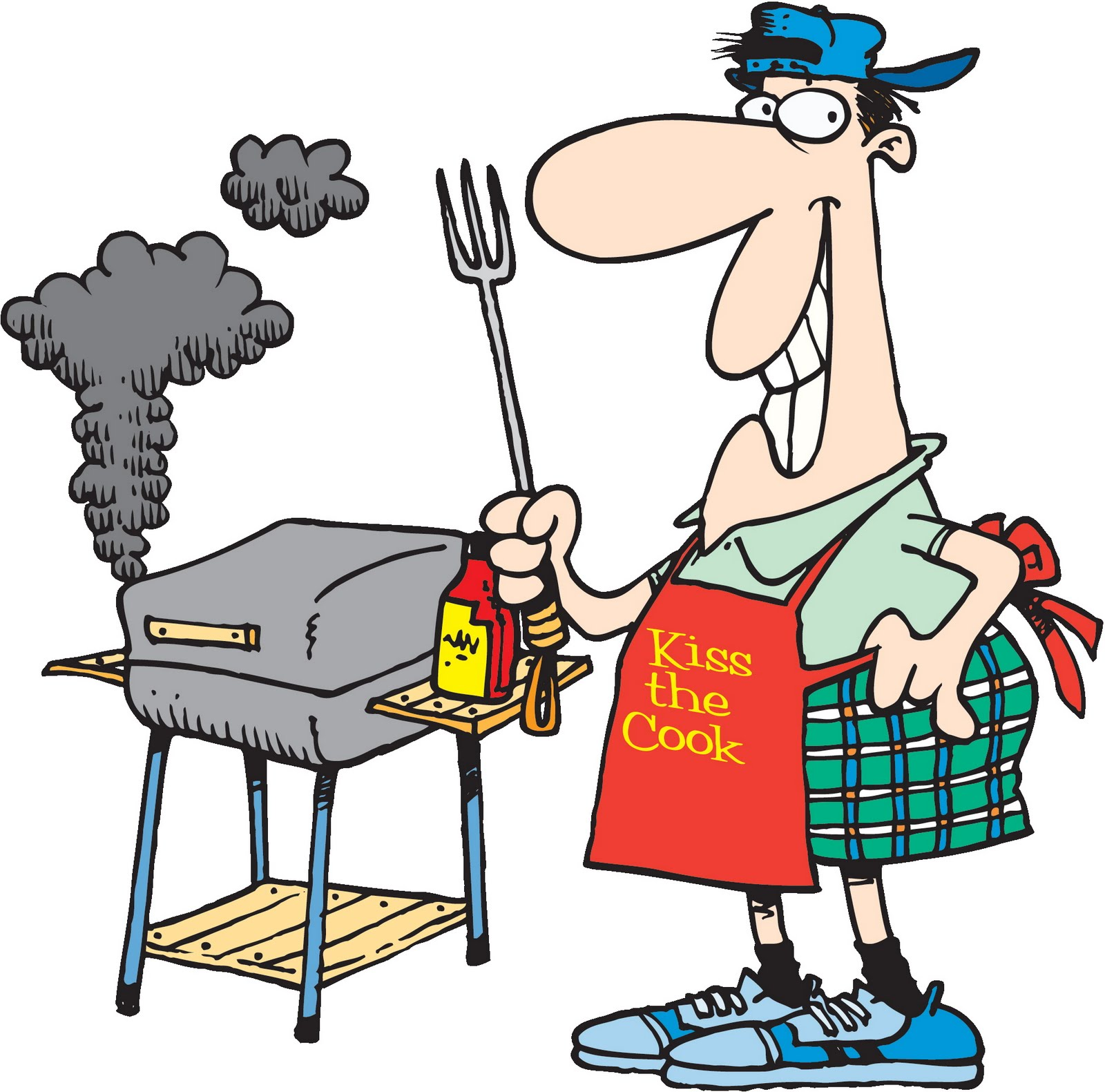 Camper clipart bbq. Free and fun summer