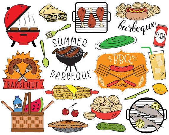 Bbq picnic clip art. Barbecue clipart summer
