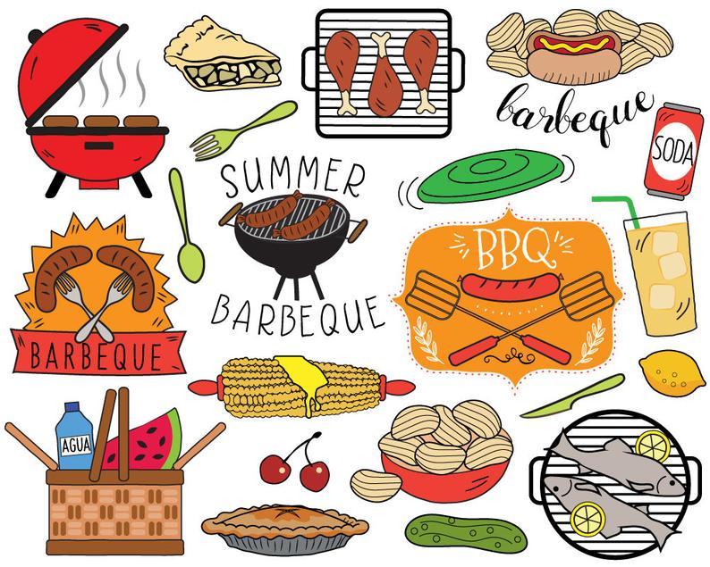 Barbecue clipart summer. Bbq picnic clip art