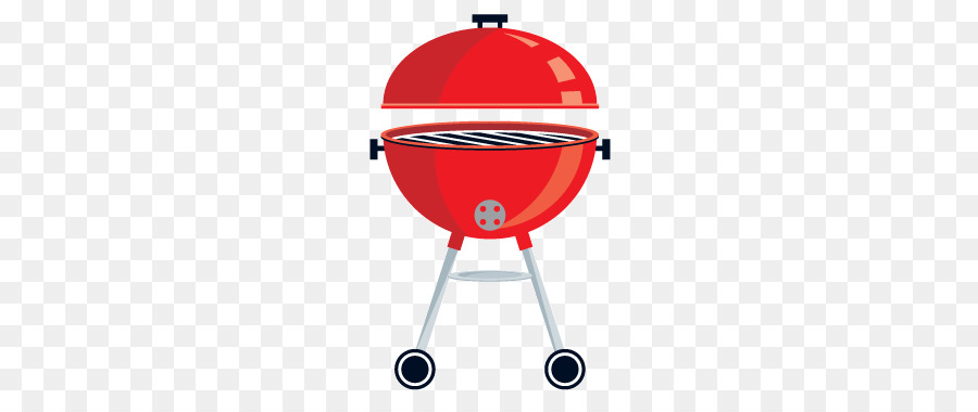 Table cartoon red product. Barbecue clipart transparent background