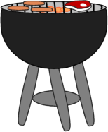 collection of bbq. Barbecue clipart transparent background
