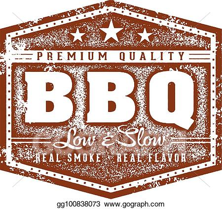 Barbecue clipart vintage. Eps vector bbq restaurant