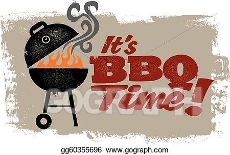 Eps illustration it s. Barbecue clipart vintage