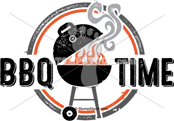 Barbecue clipart vintage. Bbq grill time stompstock