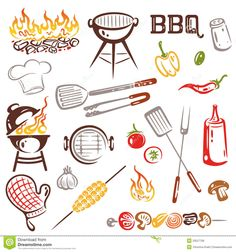Bbq photo booth props. Barbecue clipart wedding