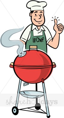 Father fathers day backgrounds. Grilling clipart