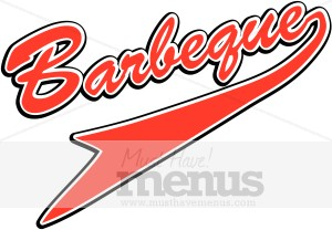 Barbeque icon. Bbq clipart word
