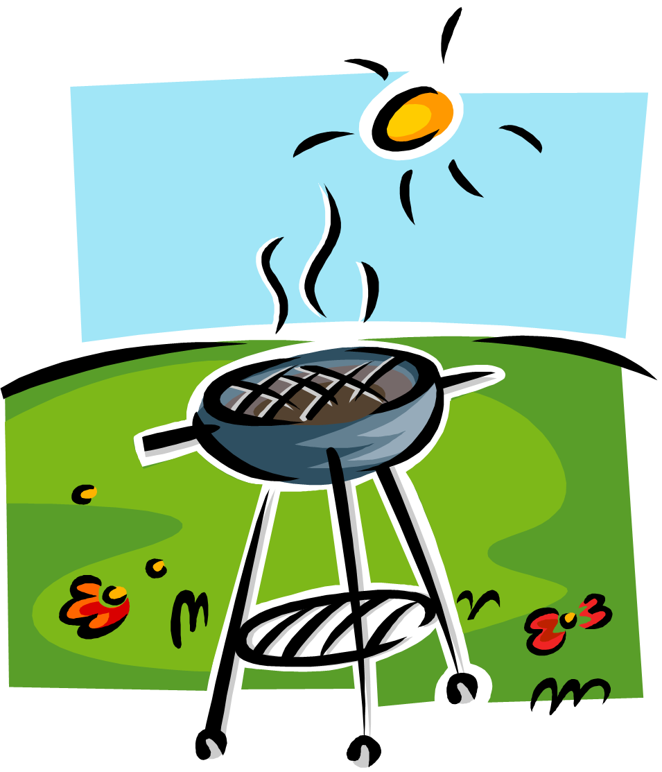 Picnic clipart june. Summer bbq party clip