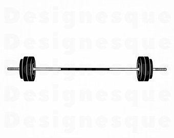 Barbell clipart. Etsy
