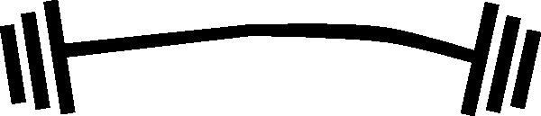 Clip art at clker. Barbell clipart