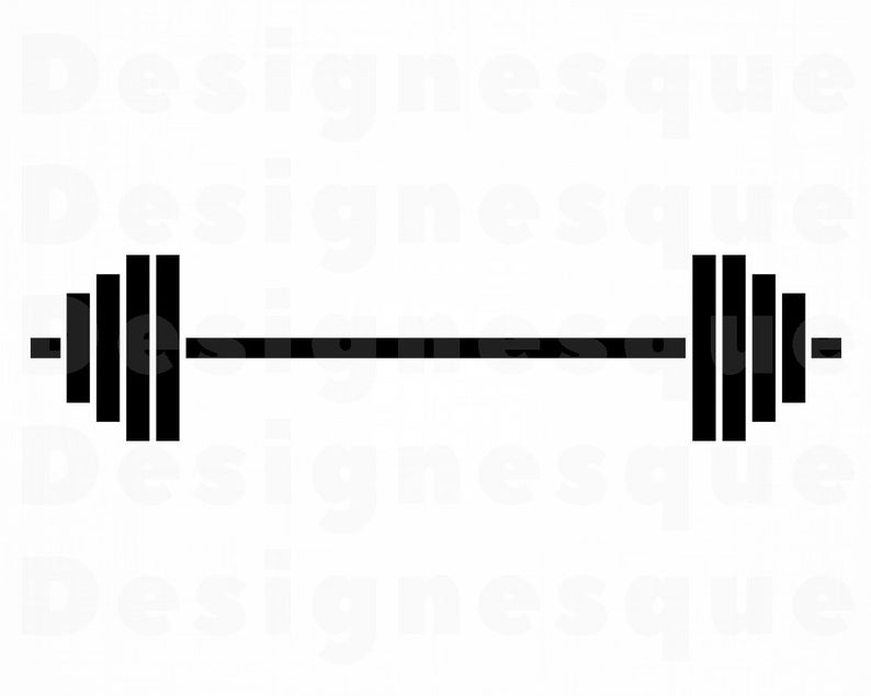 Barbell clipart. Svg weights bodybuilding files