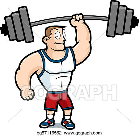Clipart exercise strong. Vector art lifting weights