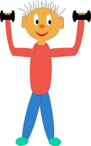 With dumbbells clip art. Exercising clipart motion
