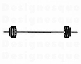 Barbell clipart barbell crossfit. Etsy