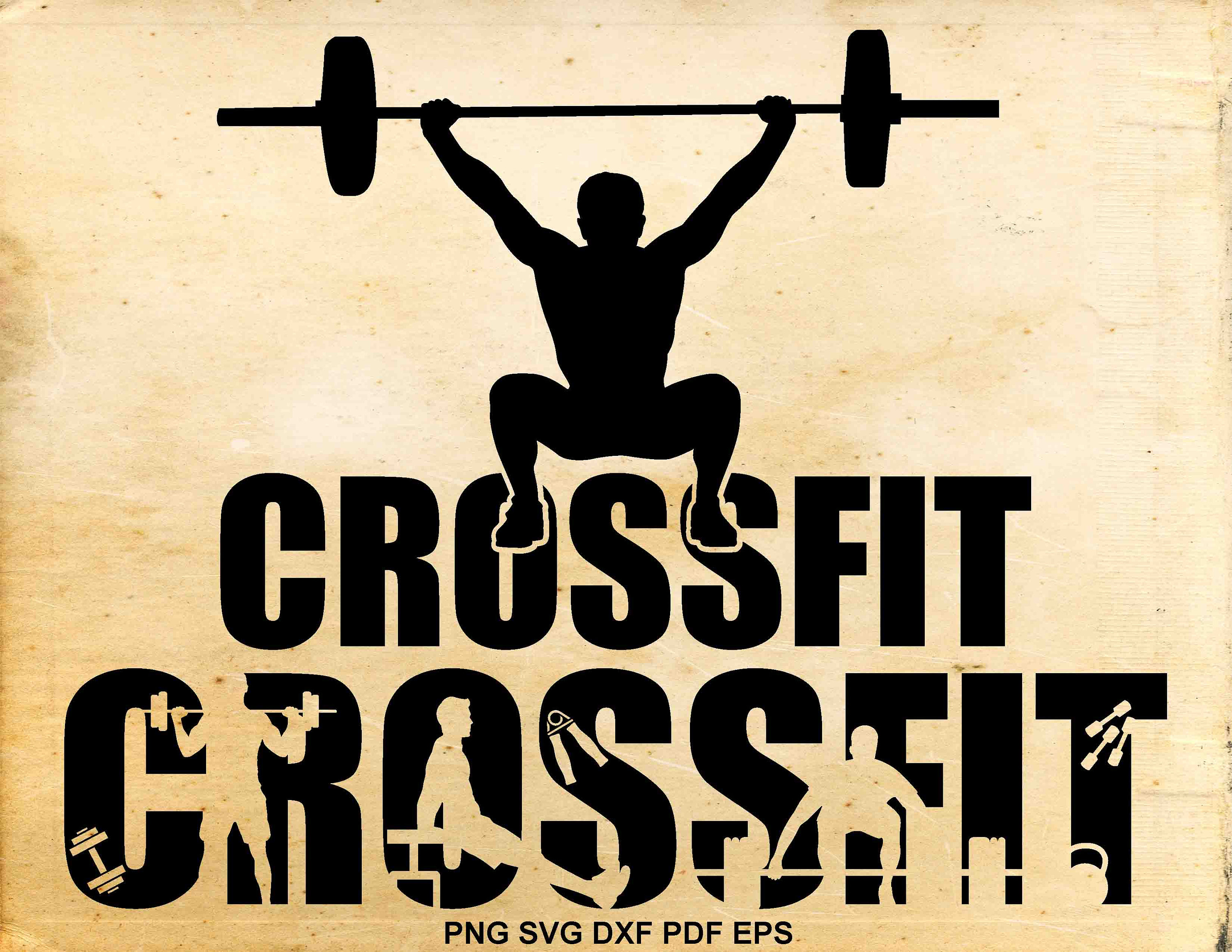 Svg files silhouette weightlifting. Barbell clipart barbell crossfit