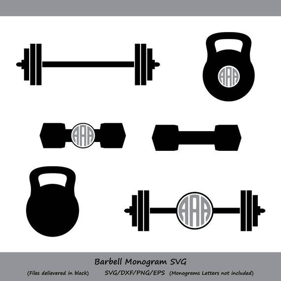 Pin on products . Weight clipart barbell crossfit